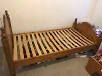 Solid Pine Wood Single Bed Frame