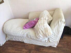 cream chaise lounge