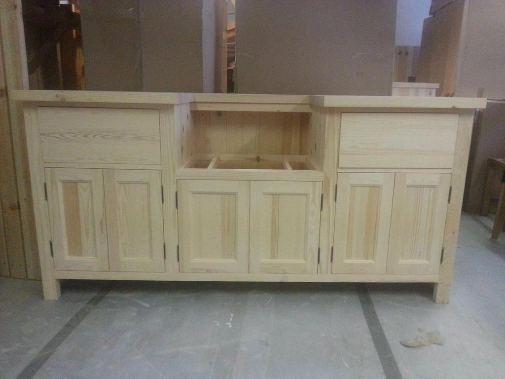 Solid Pine Belfast Sink Kitchen Unit 184cm Width To Fit 600m