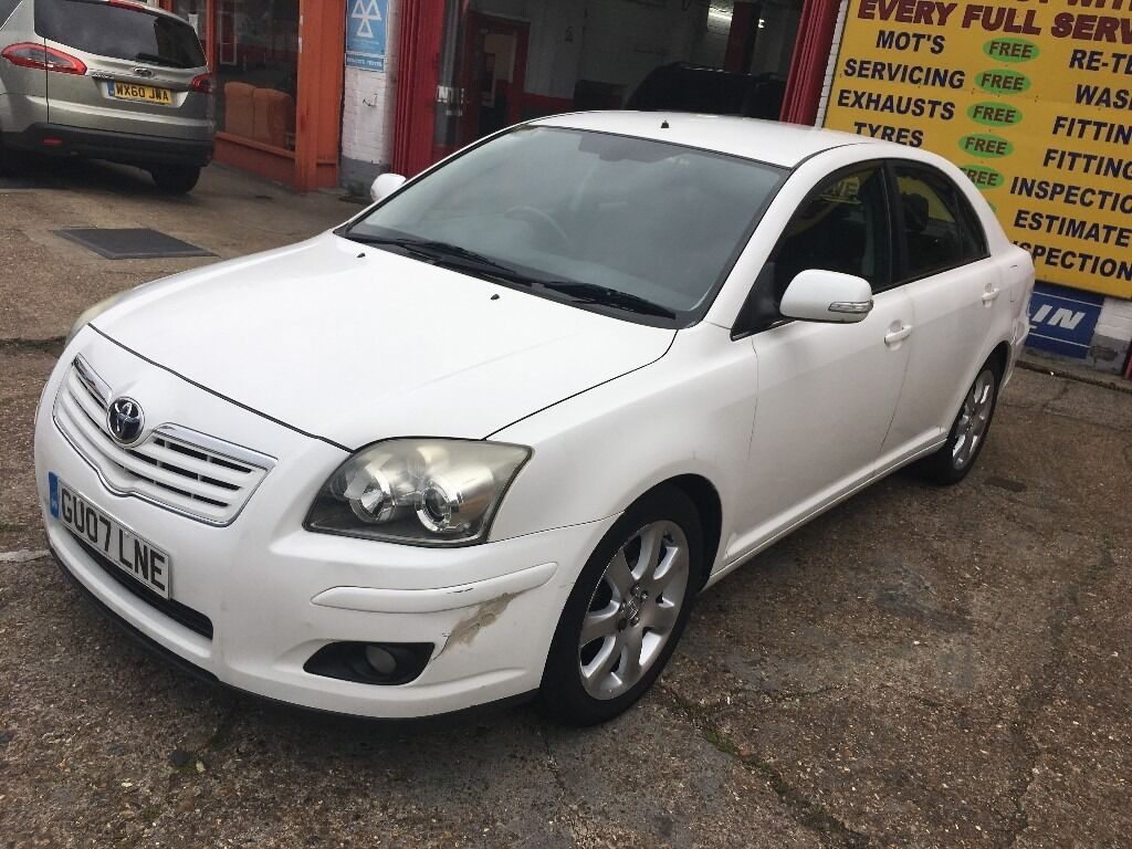 2007 toyota avensis 2 0 automatic white 1 owner no previous owner new mot in morden london. Black Bedroom Furniture Sets. Home Design Ideas