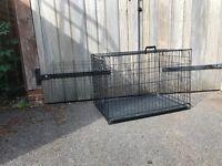 Black Medium Size Folding Dog Cage/Crate