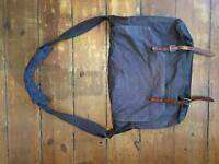 Ally Capellino navy Jeremy waxed cotton messenger bag. Used