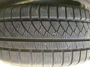 SNOW TIRE TWO 90% NEW GTRADIAL 225/50R17 98V