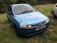 2001 Vauxhall Corsa C 1.2 16v GLS 5dr breeze blue 20n 80u 04L BREAKING FOR SPARES