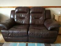 2 x two seater electric recliner sofas