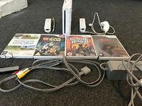 Wii + 4 Games (Inc. Zelda Twilight Princess) + 3 Controllers
