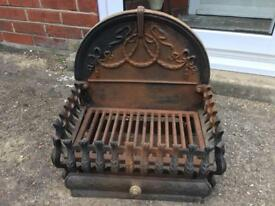 """17"""" Cast Iron Fire / Log Basket"""