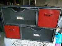 Industrial looking filing cabinet