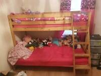 Bunk beds. Double on bottom single on top