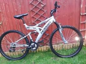 Terrain 26 inch Wheel Full Suspension Blue Unisex Mountain Bike