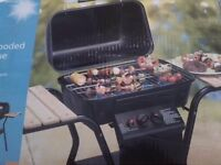 Reduced for quick sale - BRAND NEW - 2 burner gas barbecue with wood side table (box damaged)