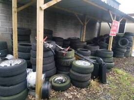 Over 150 tyres. Tyre machine and balancer