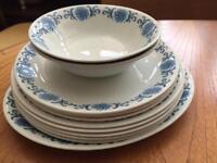 Vintage Meakin Dinner Service / Tea set