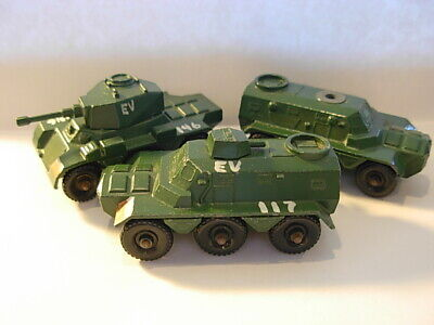 LOT OF 3 LESNEY MATCHBOX FROM MILITARY DIORAMA #67 SALADIN 6X6 & #54 SARACEN
