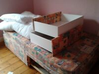 Double Divan Bed with two Drawers