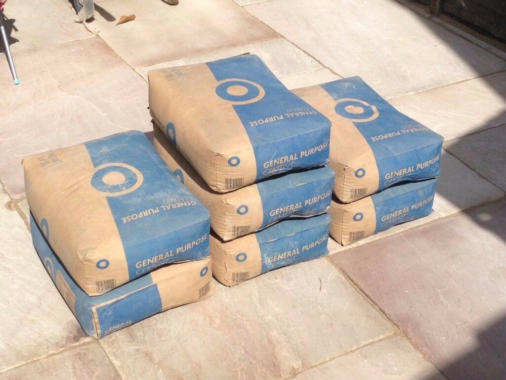7 x 25kg bags of cement