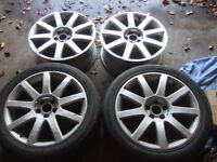 "17"" Genuine Audi Alloy Wheels, 5x100, Volkswagen Golf, Bora, A3, Skoda *POSTAGE AVAILABLE*"