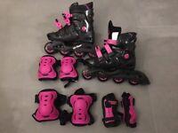 Kids In Line Skates (No Fear) adjustable size 5-8