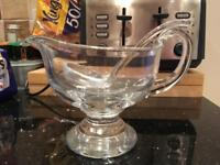 Glass Sauce boat with ladle