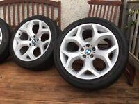 """Genuine BMW X5/X6 20""""Alloy wheels &tyres."""