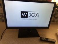 "22"" LCD MONITOR W-technologies ideal pc/gamer/extra screen laptop £40"