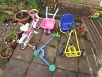 Child's outdoor toy bundle