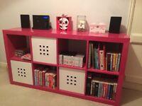 IKEA pink shelving unit