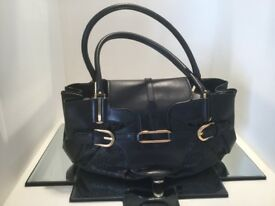 Jimmy Choo Black Leather and Weave Tote