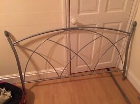 Silver double bed ends £15