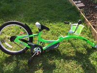 Weeride Co Pilot Tagalong Bike Fluro Green. Great condition
