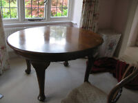 Antique Victorian Oval Dining Table