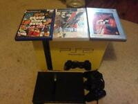 BOXED PS2 SLIMLINE WITH 3 GAMES