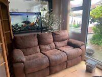 2 x recliner sofa