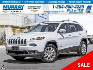 2016 Jeep Cherokee Limited *Accident Free, Leather Heated Seats*