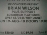 Brian Wilson x2 VIP Playhouse Tickets 19/08/18 - Circle Row B 41/42- Pet Sounds Live