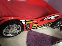 Kids 3d car bed with spoiler