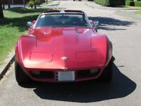 Corvette Stingray 1976 5.7 auto, cherry red with T/tops