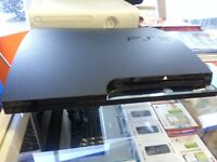PS3 slim with 3 games in good condition over 30 games to choose from