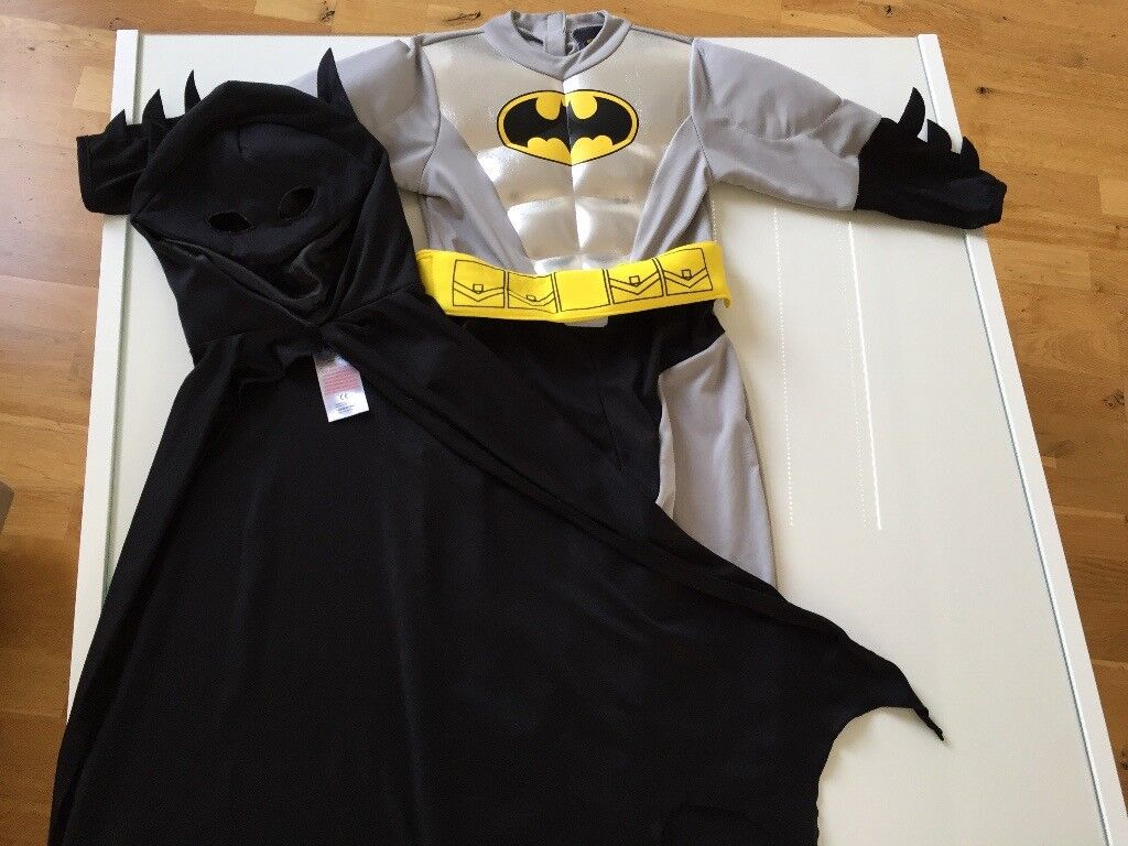 Metallic Batman costume, 3-4 years old