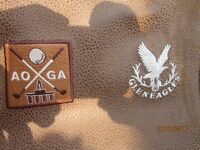 'ICON' GOLF TRAVEL BAG HIDE SUEDE LEATHER MADE SPECIALLY MADE FOR 'GLENEAGLES' CLUB