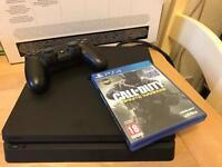 Latest Slim PS4 500GB + infinite warfare warranty and receipt