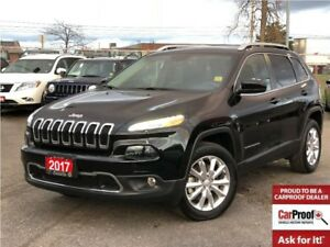 2017 Jeep Cherokee LIMITED**4x4**V6**LEATHER**SUNROOF**BACK UP C
