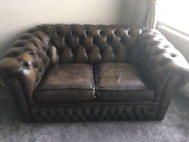 2 & 3 Seater Chesnut Chesterfield Sofas
