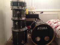 TAMA SUPESTAR 5 PIECE DRUMKIT with ZILDJIAN CYMBALS and hardware