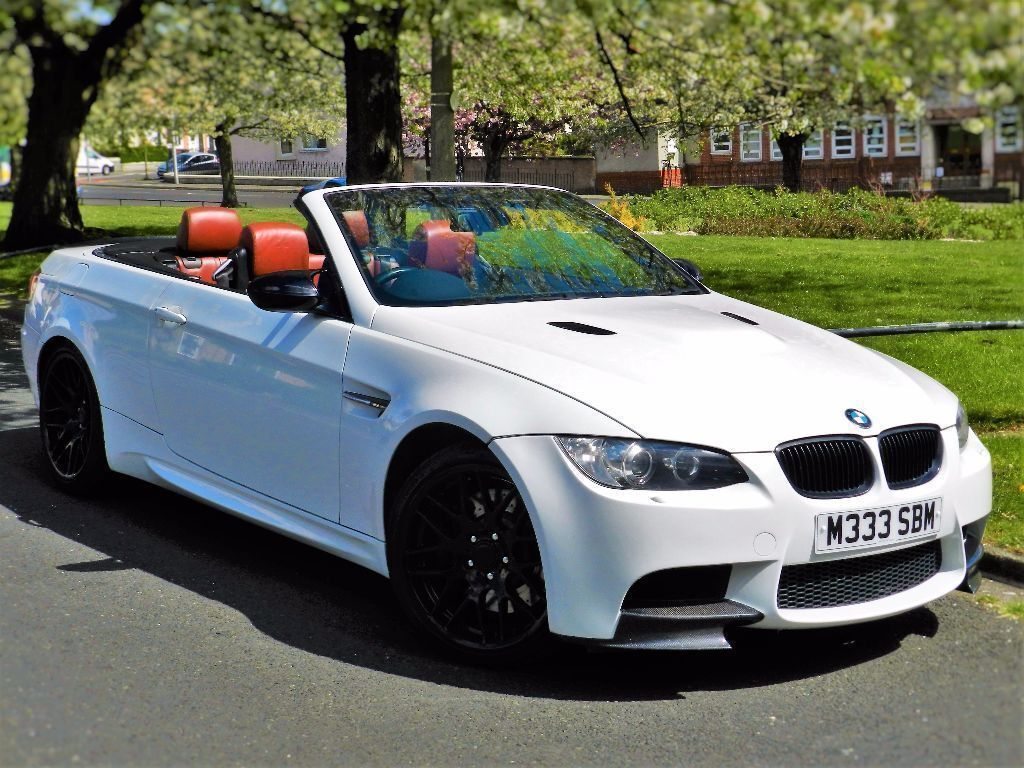 Alpine White Bmw M3 4 0 V8 Dct Convertible E93 Red Leather 12 Months Warranty Huge Spec