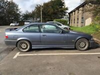 """1998 BMW E36 328i Sport Coupe Individual, Steel Blue, Light Grey Sports Leather, 17"""" BBS Wheels"""