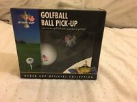 Ryder Cup golfball and golfball pick up set