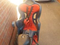 Rear child bike seat