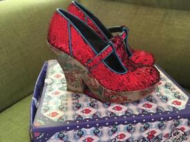 Once worn Red or Dead Chinese Style shoes size 5