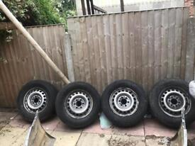 Mercedes sprinter 2006 to 2017 rims with good tyres £250